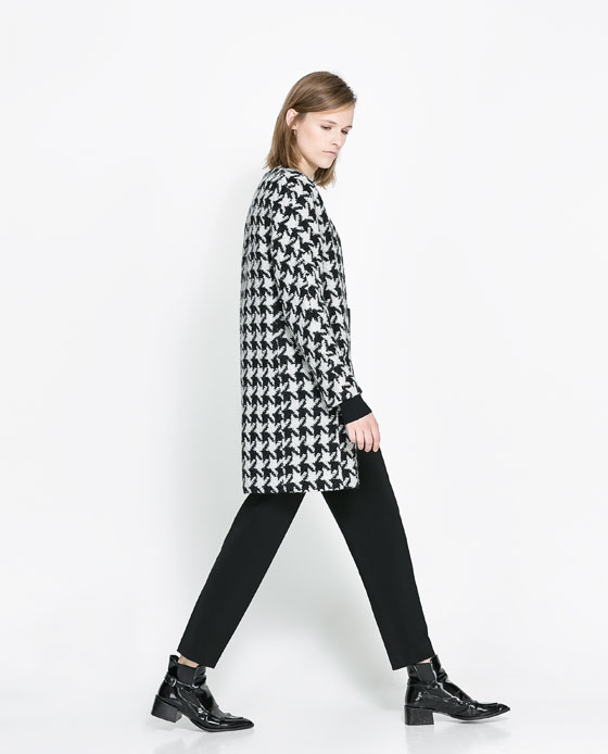 houndstooth coat Black Friday Savings at Zara