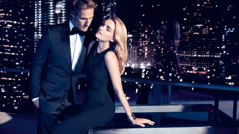 Lily Donaldson Fronts Hugo Boss Holiday 2013 Ads