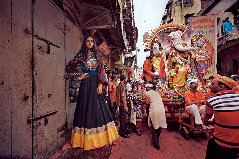 indian wedding grazia16 Preeti Dhata Models Indian Wedding Couture for Grazia Spread