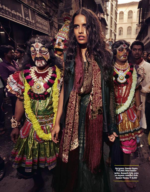 Preeti Dhata Models Indian Wedding Couture for Grazia Spread
