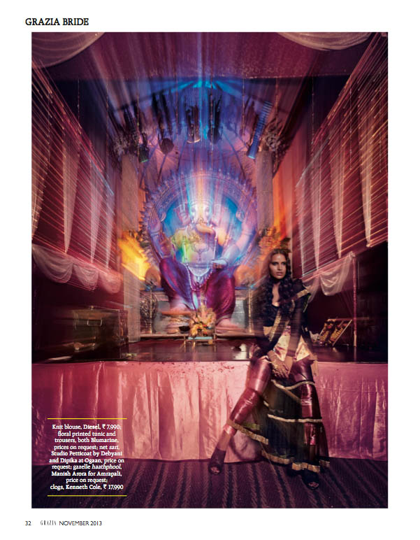 indian wedding grazia4 Preeti Dhata Models Indian Wedding Couture for Grazia Spread