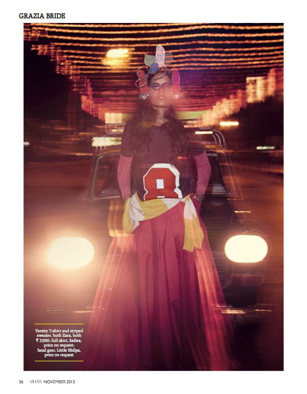 indian wedding grazia6 Preeti Dhata Models Indian Wedding Couture for Grazia Spread