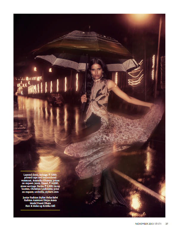 indian wedding grazia7 Preeti Dhata Models Indian Wedding Couture for Grazia Spread