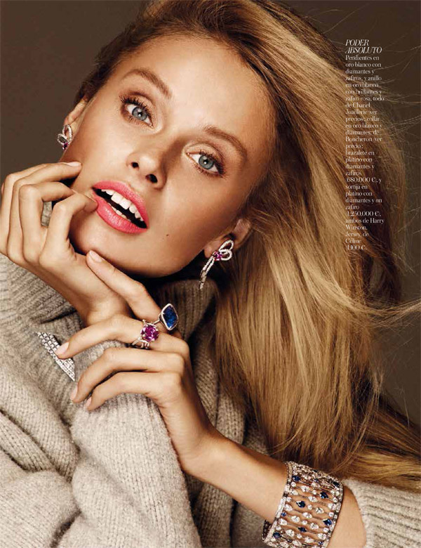 inguna butane model8 Inguna Butane Wears Colorful Gems for Vogue Joyas by Alvaro Beamud Cortes
