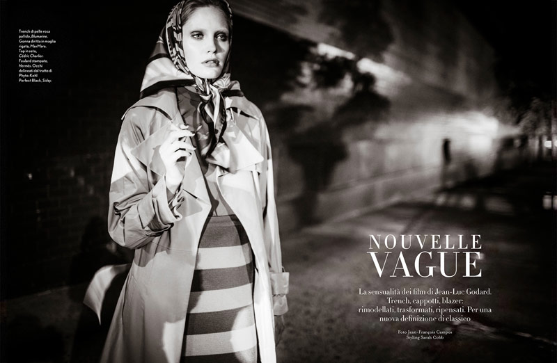 Heidi Mount Models the New Classics for Amica by Jean-François Campos