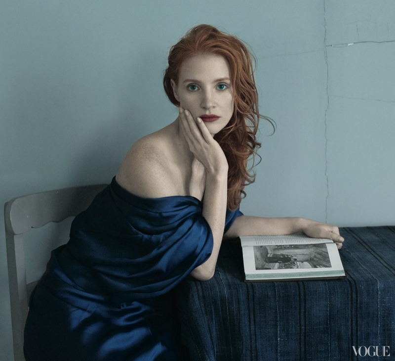 jessica annie leibovitz1 More Photos of Jessica Chastain for Vogue by Annie Leibovitz
