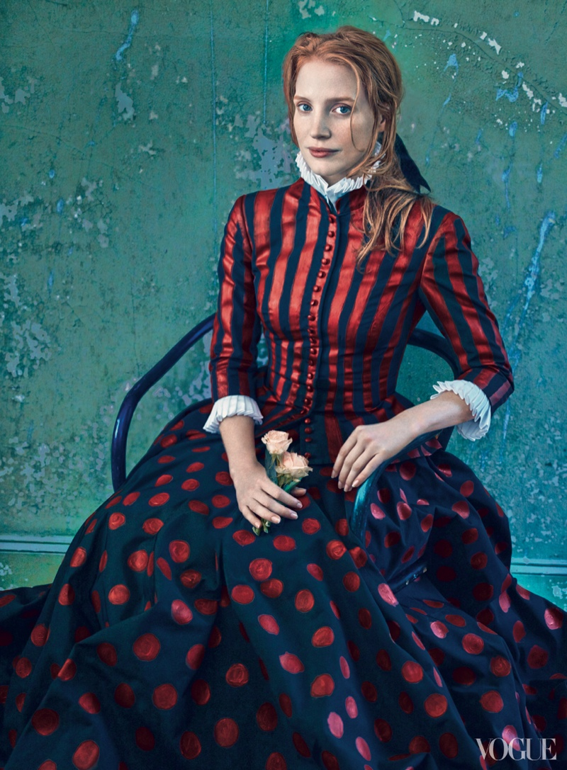 jessica annie leibovitz2 More Photos of Jessica Chastain for Vogue by Annie Leibovitz