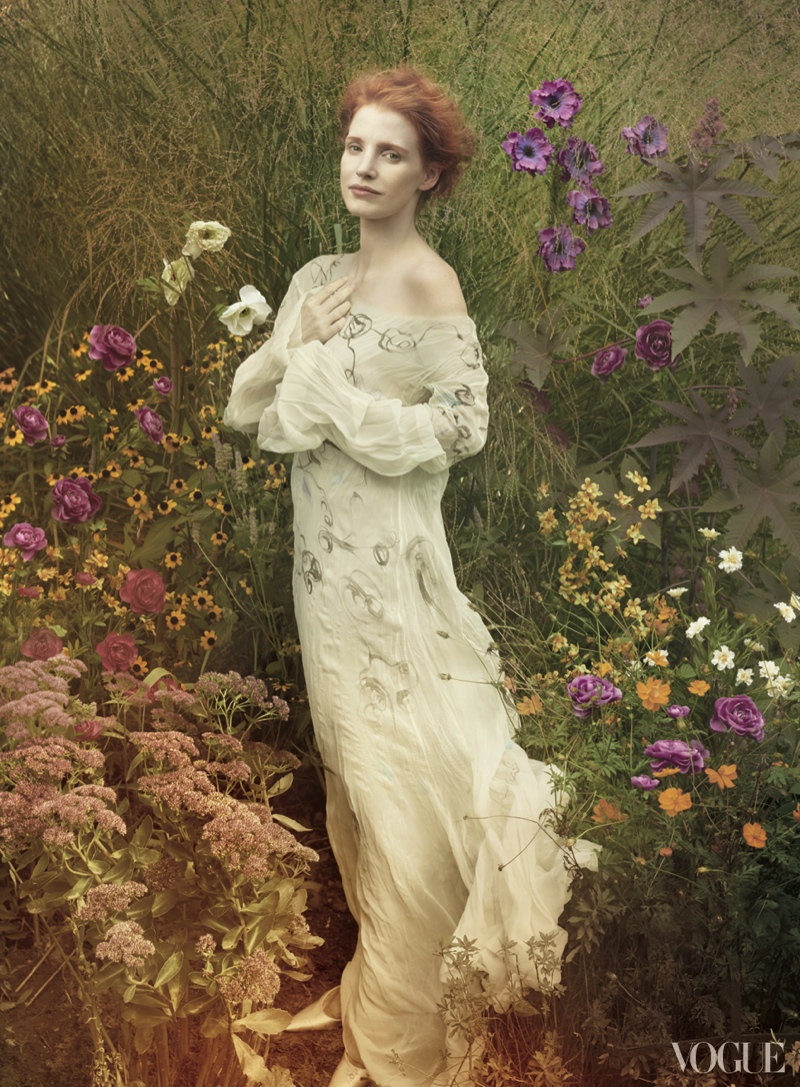 More Photos of Jessica Chastain for Vogue by Annie Leibovitz