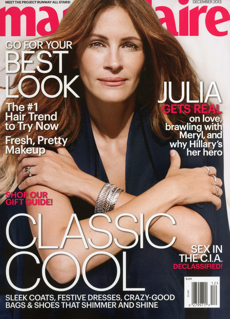 julia roberts8 Julia Roberts Appears in the December 2013 Cover Story of Marie Claire