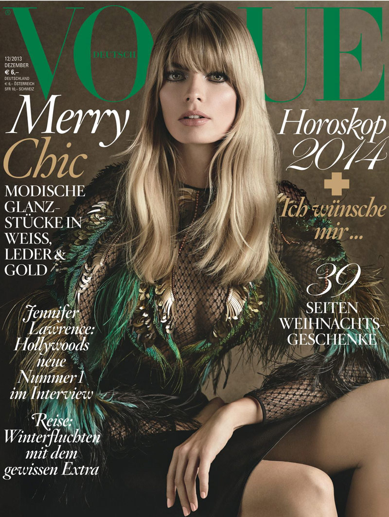 julia stegner vogue cover Julia Stegner Lands Vogue Germanys December 2013 Cover