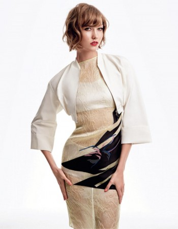 Karlie Kloss Sports Dior for Patrick Demarchelier in Vogue Japan Shoot