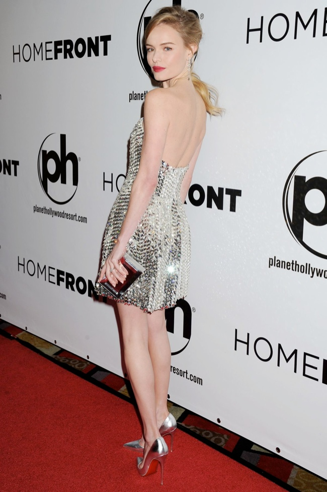 kate bosworth fendi dress2 Kate Bosworth Dazzles in Fendi at Homefront Las Vegas Premiere