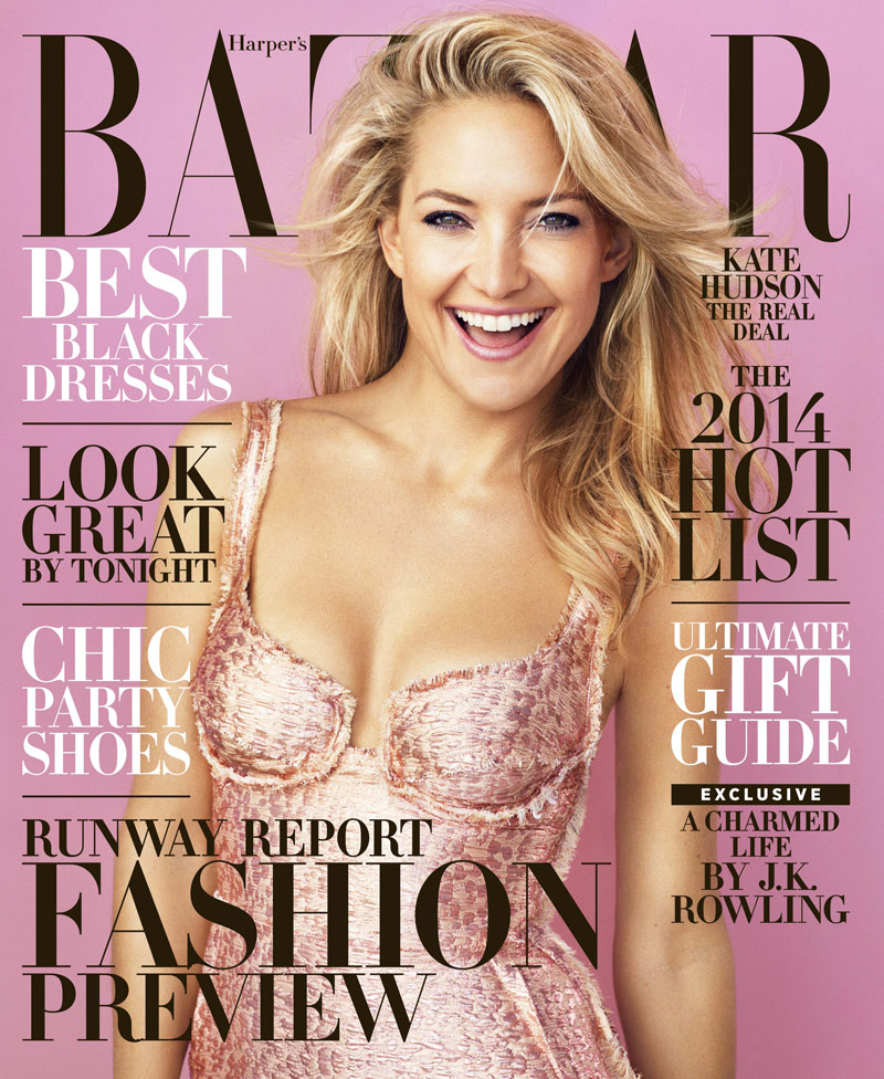 kate hudson1 Kate Hudson Covers Harpers Bazaar December/January 2013