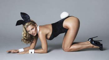 Preview of Kate Moss' 40th Anniversary shoot for Playboy by Mert & Marcus / Image Courtesy of Twitter