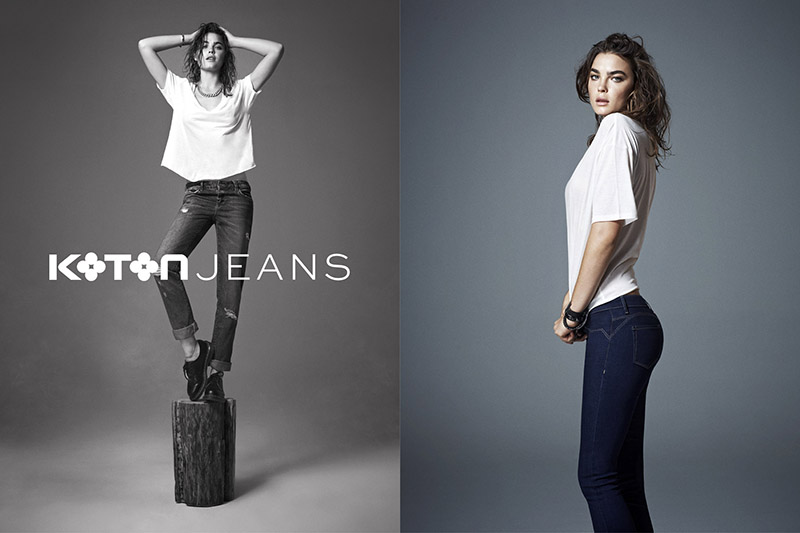 koton jeans1 Bambi Northwood Blyth Stars in Koton Jeans Fall 2013 Ads by Emre Dogru