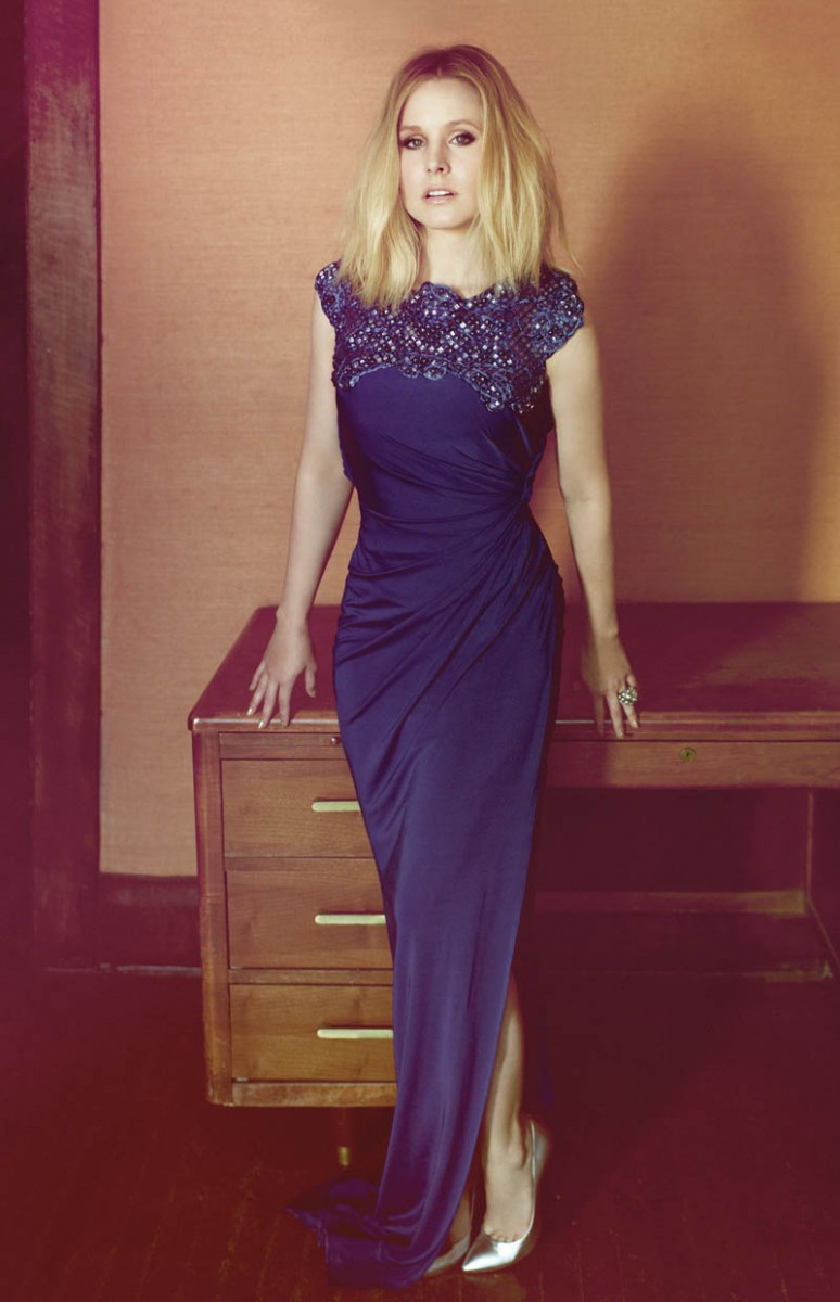 kristen bell2 774x1200 Kristen Bell Stars in FLAREs December 2013 Cover Shoot