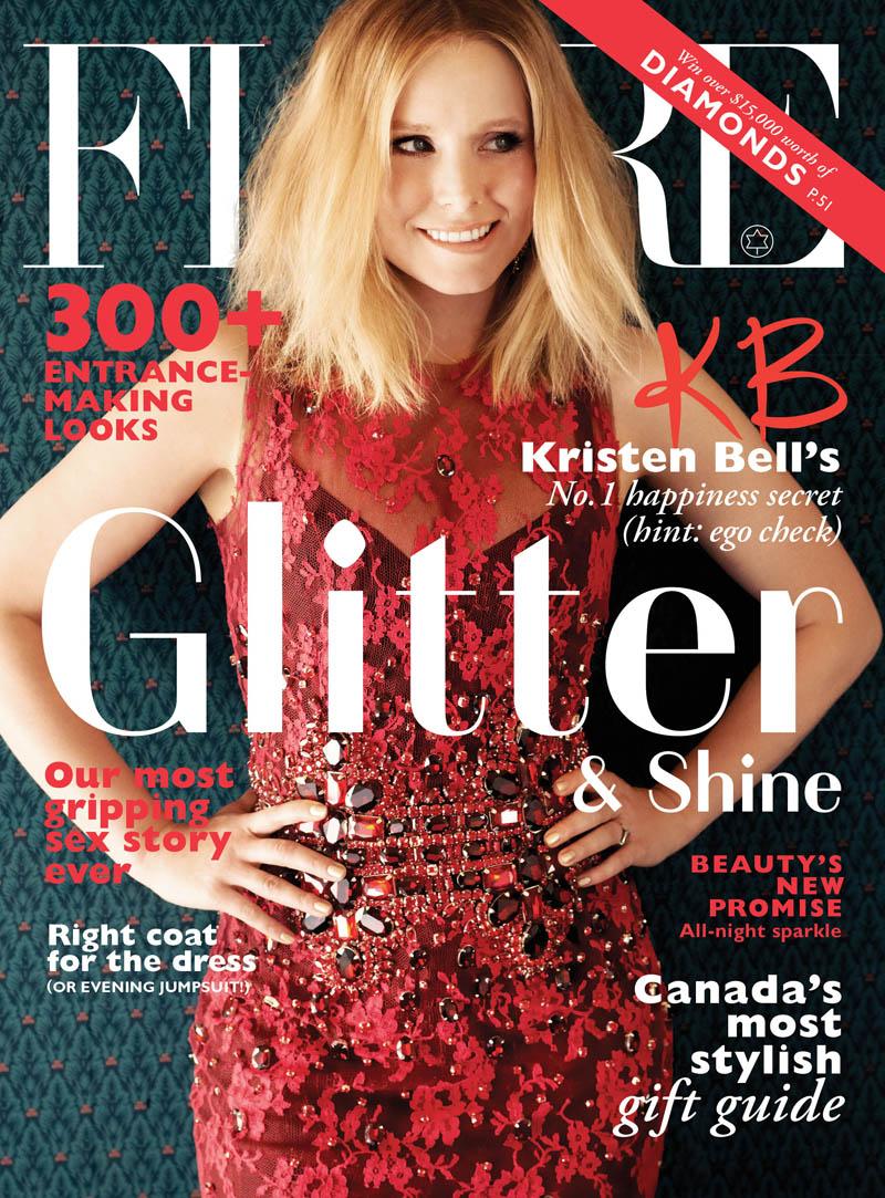 Kristen Bell Stars in FLARE's December 2013 Cover Shoot