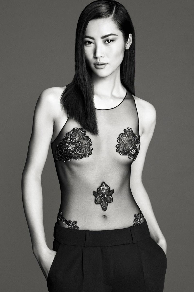 la perla spring 2014 3 Cara Delevingne, Liu Wen + Malgosia Bela Front La Perla Spring 2014 Ads