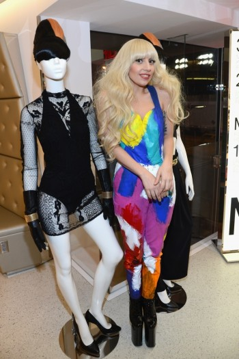 Lady Gaga Helps Open H&M Store in Times Square