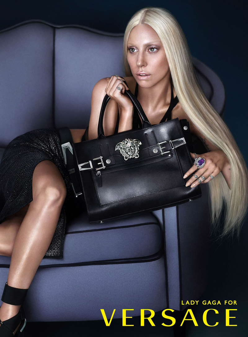 lady gaga versace dark See Another Photo from Lady Gagas Versace Advertisements