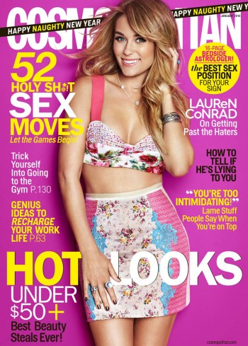 Lauren Conrad Covers Cosmopolitan January 2014