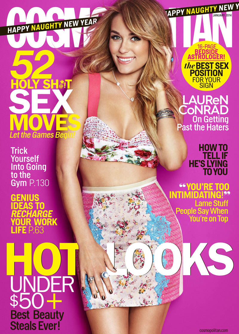 lauren conrad cosmopolitan cover Lauren Conrad Covers Cosmopolitan January 2014