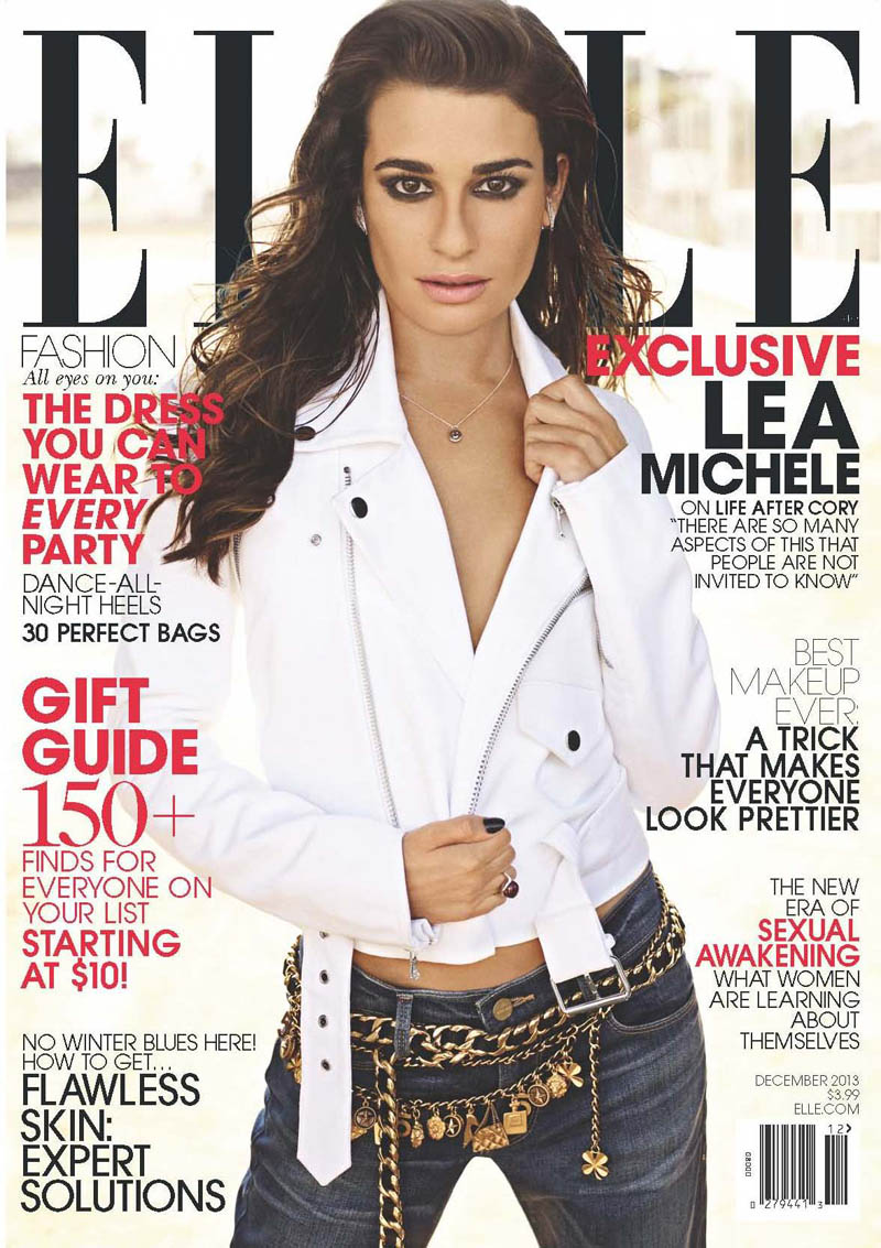 lea michele elle1 Lea Michele Covers ELLE December 2013, Opens Up About Recent Loss