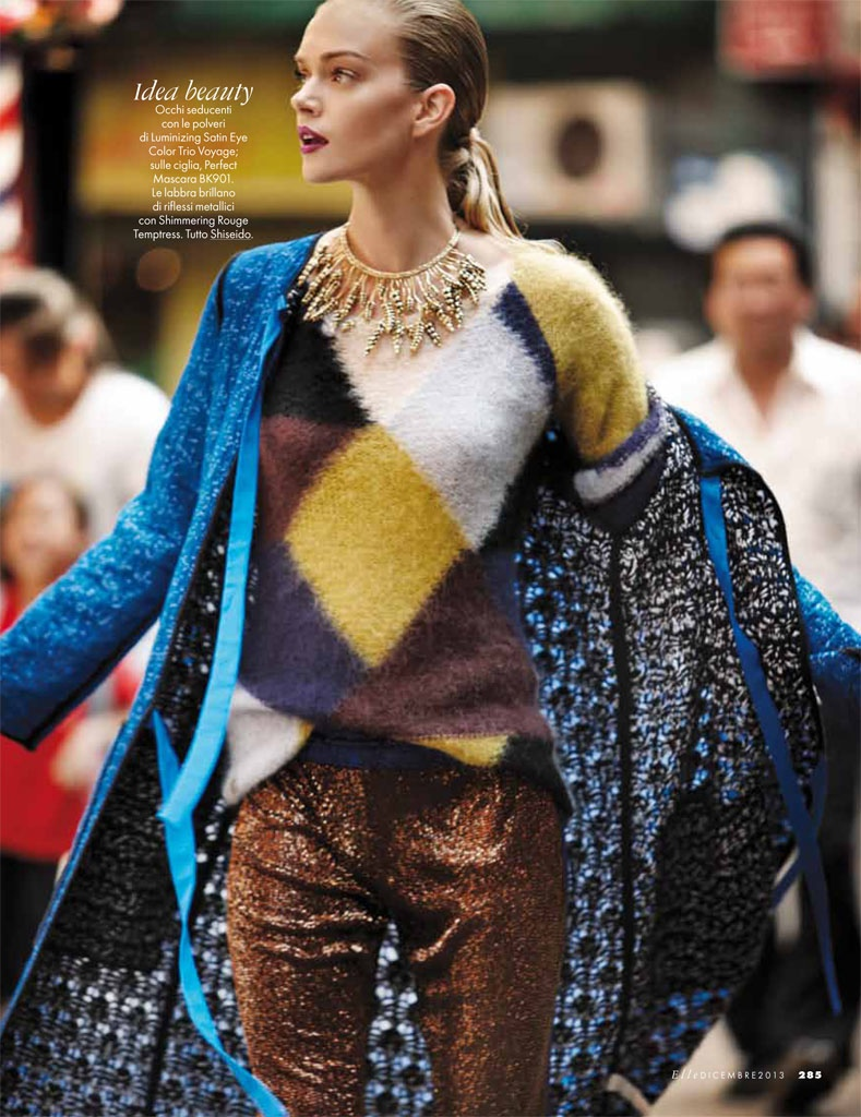 lindsay ellingson model4 Lindsay Ellingson Takes it to the Streets for Elle Italia December 2013