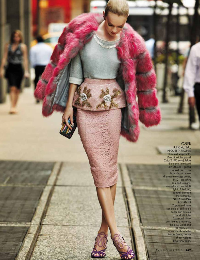 lindsay ellingson model6 Lindsay Ellingson Takes it to the Streets for Elle Italia December 2013