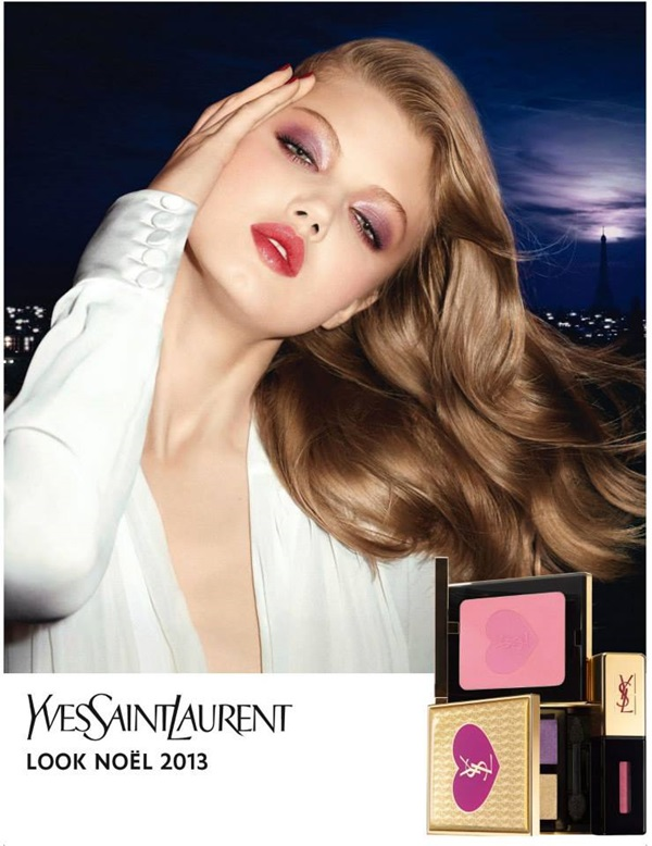 lindsey wixson ysl holiday portrait Lindsey Wixson Stars in YSL Holiday 2013 Cosmetics Collection