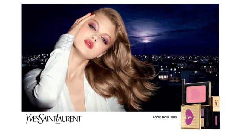 lindsey wixson ysl holiday Lindsey Wixson Stars in YSL Holiday 2013 Cosmetics Collection