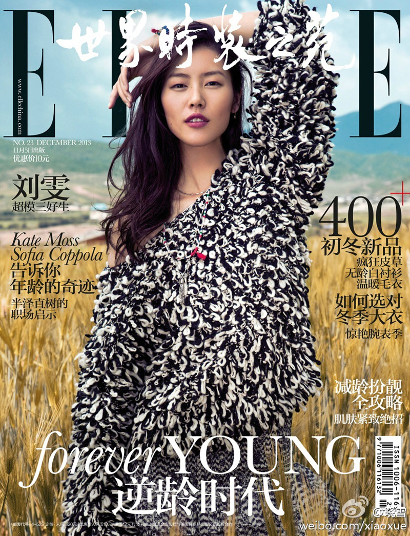 liu wen location10 Liu Wen Stars in the December 2013 Cover Shoot from Elle China