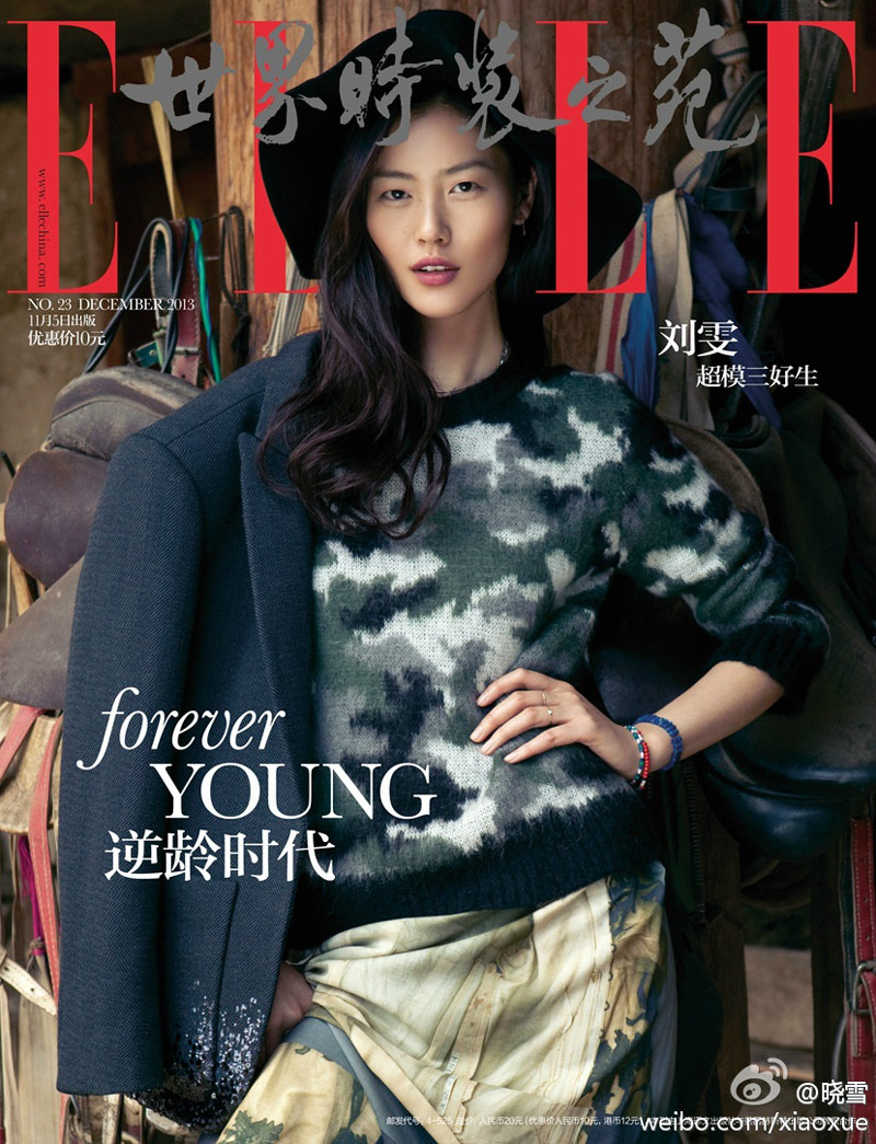 liu wen location11 Liu Wen Stars in the December 2013 Cover Shoot from Elle China