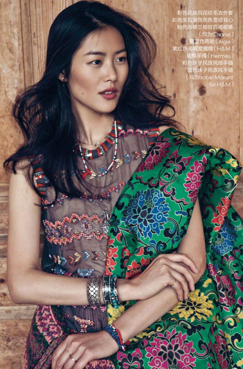 liu wen location7 792x1200 Liu Wen Stars in the December 2013 Cover Shoot from Elle China