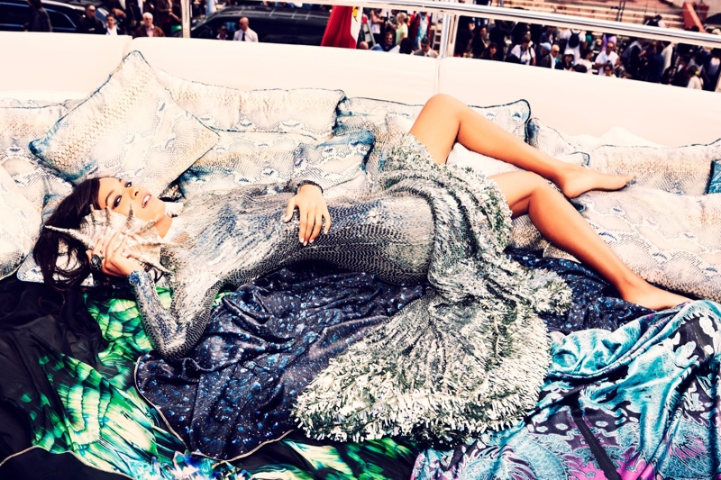 liya kebede model1 Liya Kebede Dazzles for Ellen von Unwerth in The Sunday Times Style