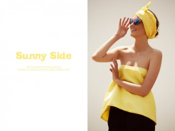"Mali Koopman by Saskia Wilson in ""Sunny Side"" for Fashion Gone Rogue"