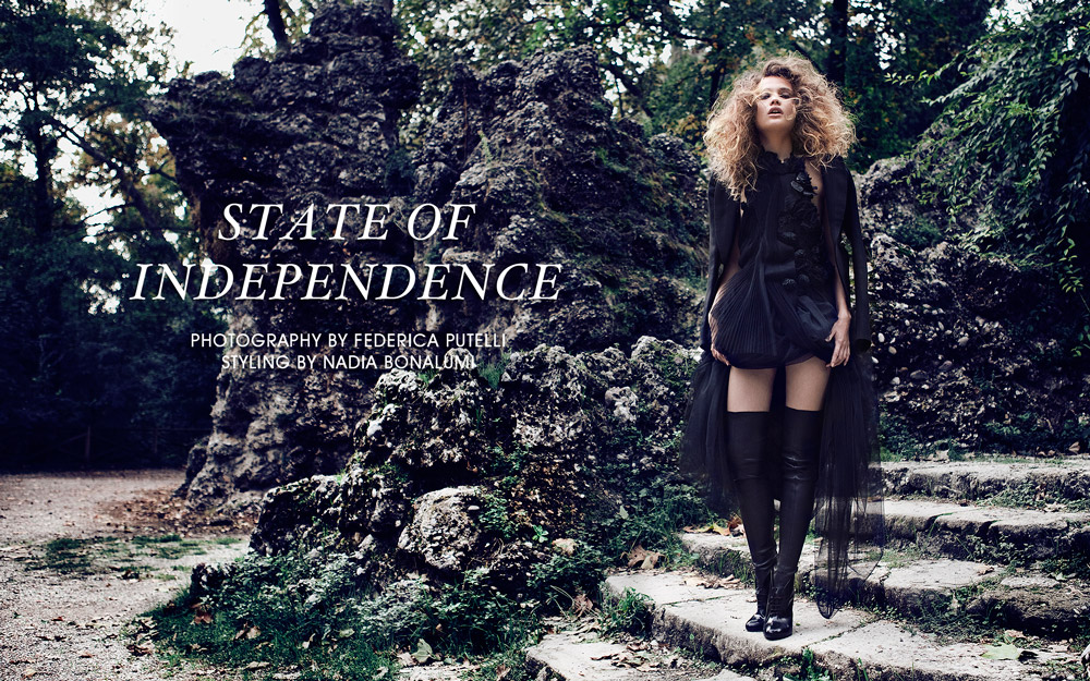 "Malika by Federica Putelli in ""State of Independence"" for Fashion Gone Rogue"