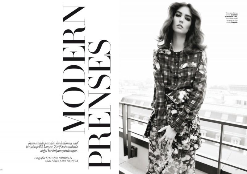 Manon Leloup Poses for Harper's Bazaar Turkey December 2013