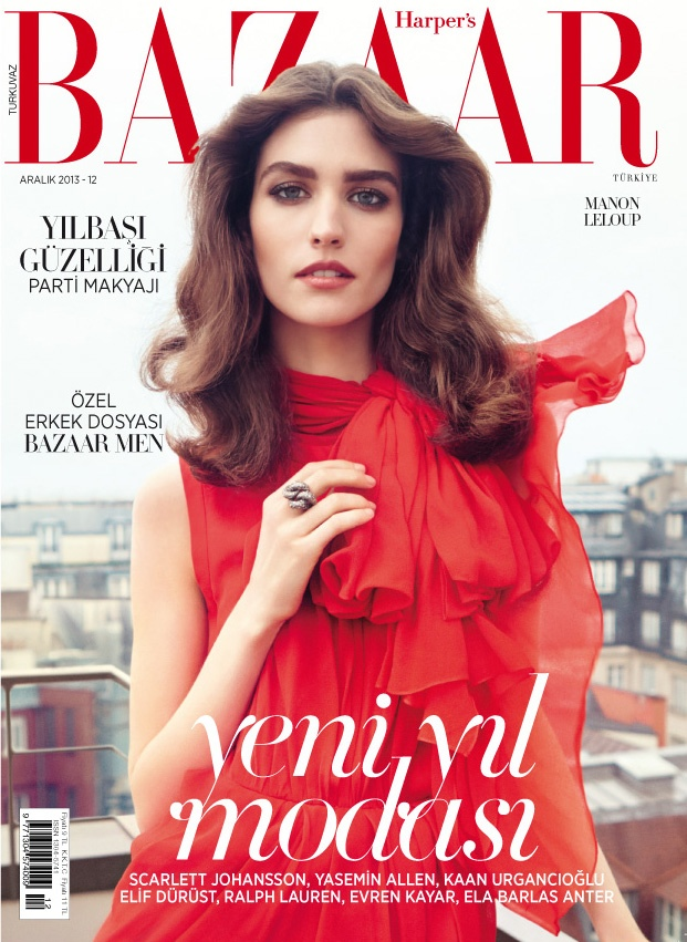 manon leloup model8 Manon Leloup Poses for Harpers Bazaar Turkey December 2013