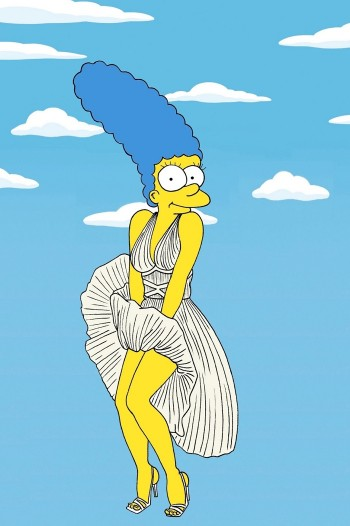 Marge Simpson Channels Style Icons in aleXsandro Palombo Illustrations
