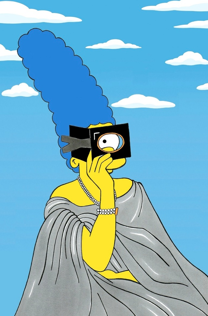 marge simpson style icon12 Marge Simpson Channels Style Icons in aleXsandro Palombo Illustrations