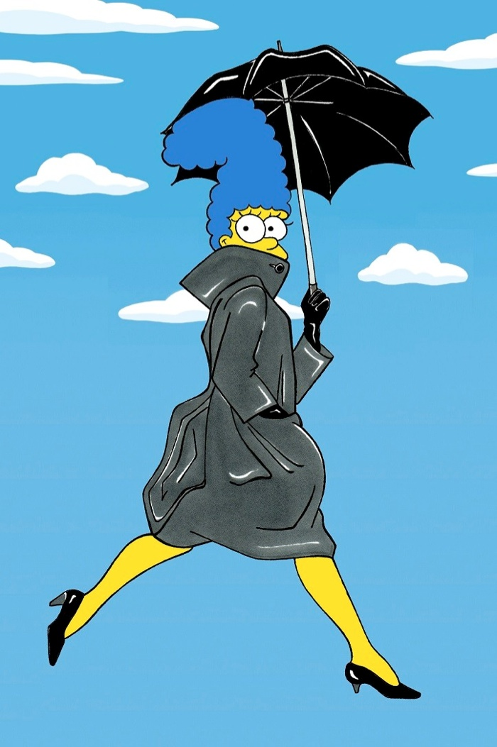 marge simpson style icon5 Marge Simpson Channels Style Icons in aleXsandro Palombo Illustrations