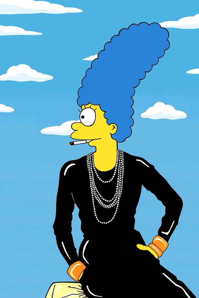 marge simpson style icon7 Marge Simpson Channels Style Icons in aleXsandro Palombo Illustrations