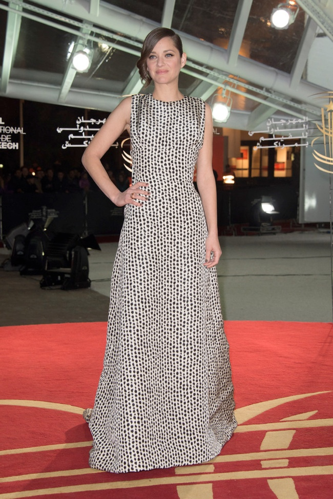 marion dior haute couture1 Marion Cotillard Wears Dior Haute Couture at the Marrakech Film Festival