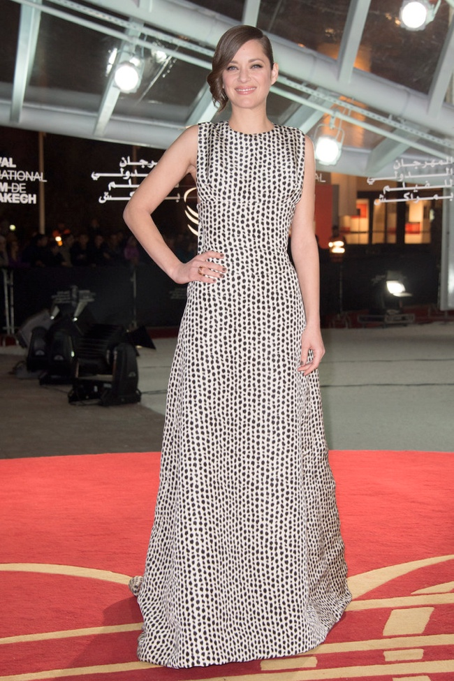 marion dior haute couture2 Marion Cotillard Wears Dior Haute Couture at the Marrakech Film Festival