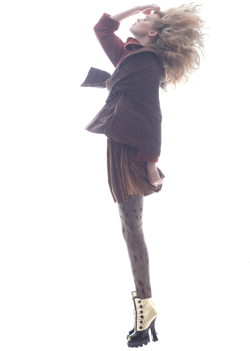 Masha Markina Wears Fall Style for Diego Uchitel in D Magazine