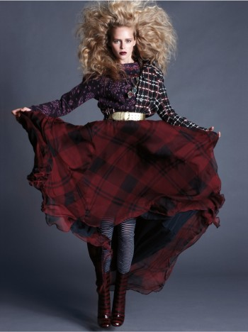 Masha Markina Wears Fall Style for Diego Uchitel in D Magazine