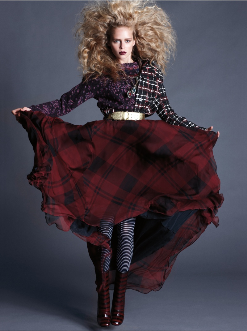 masha markina5 Masha Markina Wears Fall Style for Diego Uchitel in D Magazine