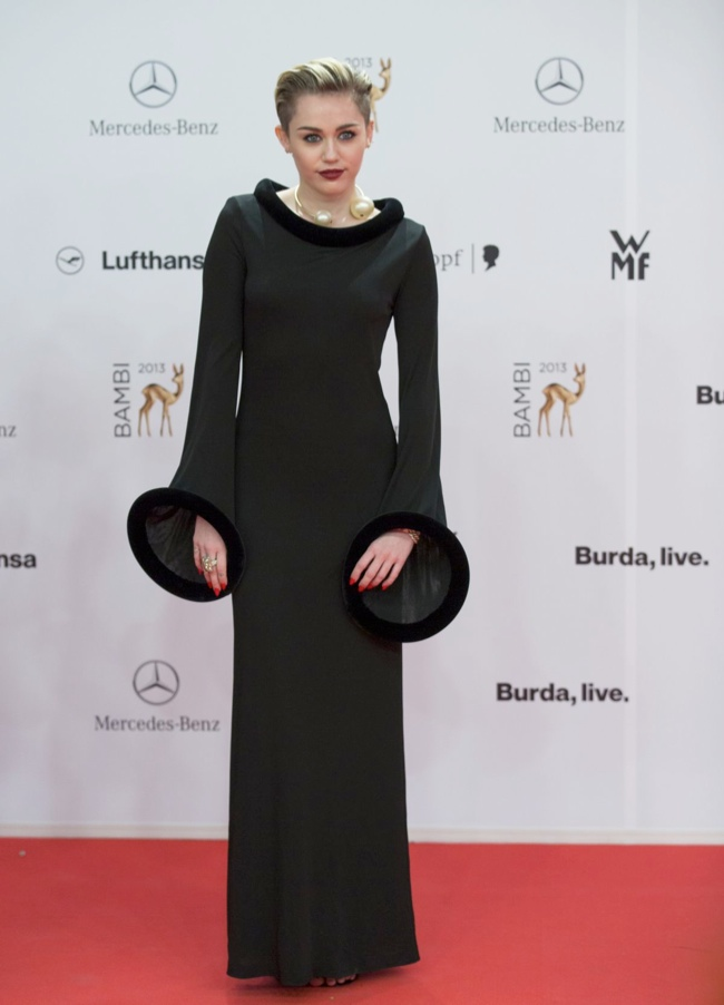 Miley Cyrus Wears Jean Paul Gaultier at the 2013 Bambi Awards