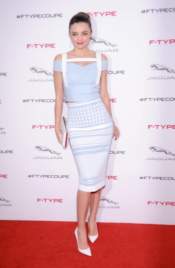 Miranda Kerr Wears Form-Fitting David Koma Dress at Jaguar Event